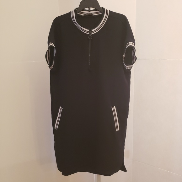 Zara Dresses & Skirts - Zara black and white shirt dress sz S